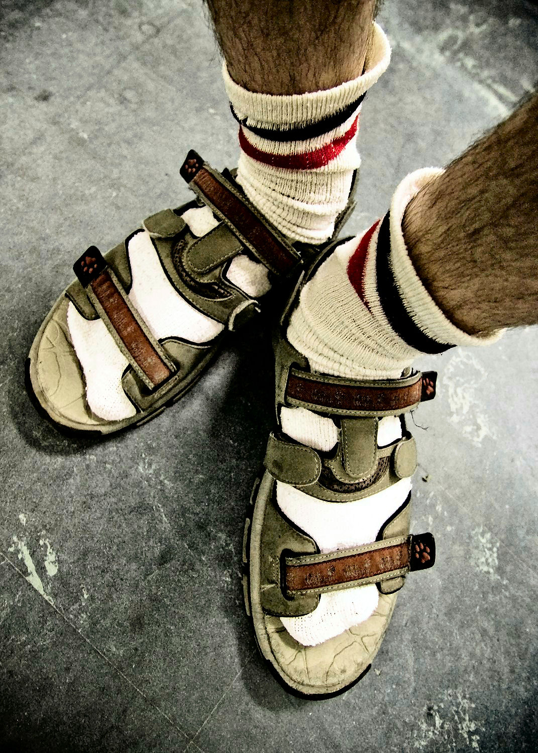 sandals socks 